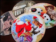 Recycled Christmas Decoration · Christmas Coasters