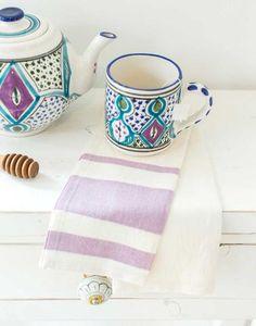Rugby Tea Towel - Lavender
