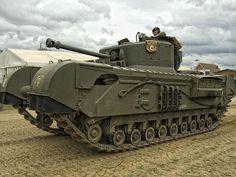 Churchill Heavy Tank, 764 were built by the Gloucester Carriage and Wagon Co