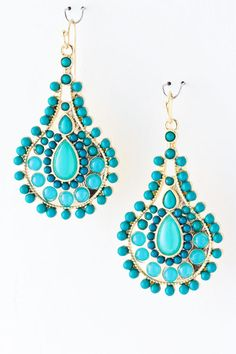 Turquoise Athena Earrings on Emma Stine Limited