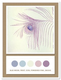 Color Card 018: Blue Moon, Frost, Ecru, Powdered Pink, Orchid | The Inspired Bride