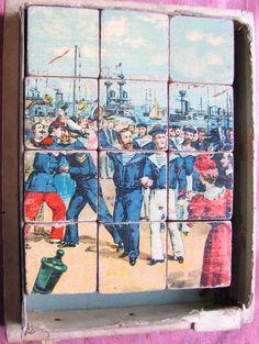 French vintage children blocks illustrated by Papeteriedeparis, $50.00