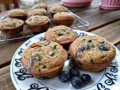 Blueberry Oatmeal Muffins - low calorie, healthy ingredients!