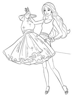 437 Best Barbie Colouring Page Images On Pinterest Barbie Coloring