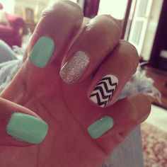 any excuse to paint those nails a little crazier #summer #Chevronnails #24Notion #color