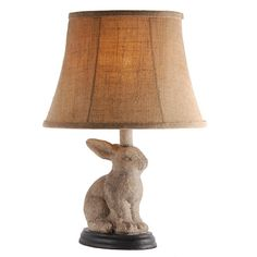 Tiny white black bunny rabbit porcelain lamp black bunny bunny find amazing bunny rabbit table lamp with distressed gray finish bunny gifts for your bunny lover aloadofball Choice Image