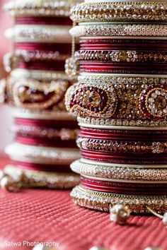 Classic red and gold chura.
