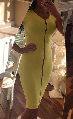 A zipped dress