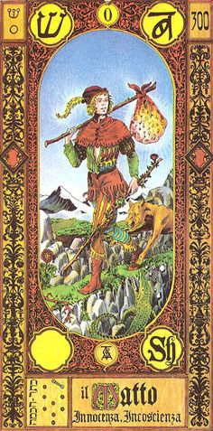 O. The Fool - Tavaglione Tarot - The Stairs of Gold Tarot by Giorgio Tavaglione