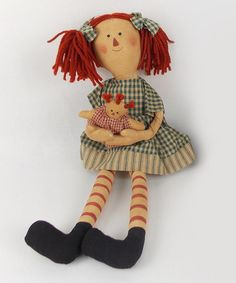 Take a look at this Pig-Tail Rag Doll Annie Plush Figurine by Craft Outlet on #zulily today!