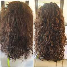 15 Curly Hair Transformations You Have to See to Believe – Chris Spencer Fletcher - Perm Hair Styles Thin Curly Hair, Curly Hair With Bangs, Curly Hair Styles, Natural Hair Styles, Curly Hair Layers, Curly Hairstyles For Medium Hair, Long Layered Curly Hair, Frizzy Wavy Hair, Curly Perm