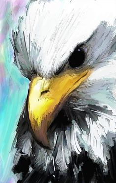 Watercolor art Art drawings Eagle art Acrylic painting Eagle painting Drawings - Painting with a palette knife is exciting and fun isn't it Since there is a bunch of techniques of painting w - Eagle Painting, Painting Art, Texture Painting, Simple Oil Painting, Painting Tips, Palette Knife Painting, Watercolor Paintings, Landscape Paintings, Acrylic Painting Animals