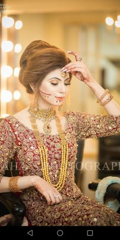 Getting Ready Session ! Bride of the day diaries . Bookings open for 2018 call or WhatsApp 92 333 5916771 92 333 Kindly inbox us for our updated packages Detail. Pakistani Bridal Makeup, Pakistani Wedding Outfits, Indian Bridal Fashion, Bridal Mehndi, Bridal Outfits, Pakistani Dresses, Bridal Looks, Bridal Style, Bridal Jewellery Inspiration