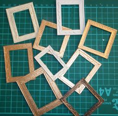 Brilliant Frame tutorial..paper and a shapesizzor nataliegayleminiatures: Mini Picture Frame - Tutorial