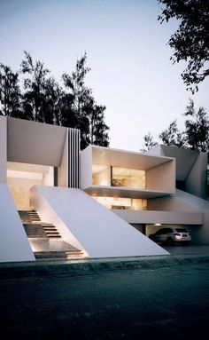 Flat roof l shaped house design pinterest flat roof for All architectural styles