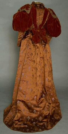 1890's Dinner Dress - Back View