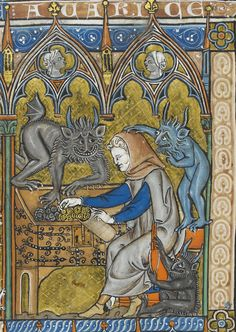 Add. 28162Demons of avarice, Add. 28162 (courtesy The British Library Board)