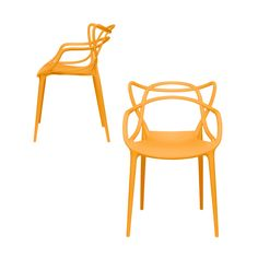 Set of 2 - Masters Entangled Chair (Orange) Bedroom Design Inspiration, Chairs For Small Spaces, Mid Century Modern Furniture, Cool Chairs, Modern Chairs, Chair Design, Mid-century Modern, Dining Chairs, Dining Room
