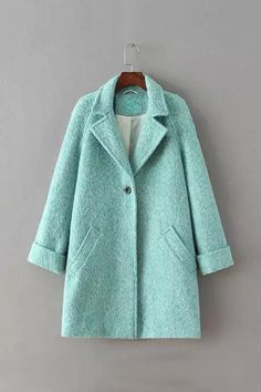 Aquamarine Duffle Coat - US$75.95 -YOINS