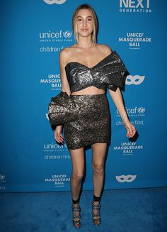 bbd8753e2fc Whitney Port in Milin bow crop top and mini skirt