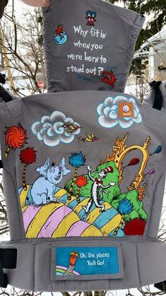 Dr Suess (Customized by Tracy Gangi of MamaT's Art) Tula Baby Carrier)