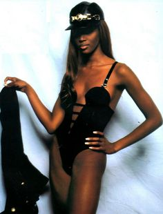 Naomi Campbell for Versace S/S 1992.