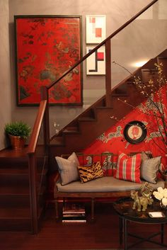 the aldyn | Habitually Chic with Scalamandre Zebras wallpaper in Masai Red - Gorgeous!