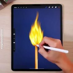 Ipad Discover [Match Fire Animation Awesome work by Dont miss our daily content. Tap the triple dots on the top right of this post and tap Turn Post Notifications On Digital Painting Tutorials, Digital Art Tutorial, Art Tutorials, Cool Art Drawings, Art Drawings Sketches, Digital Art Beginner, Poses References, Ipad Art, Digital Illustration