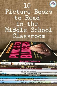 Picture Books in Middle School | Using picture books in your classroom can engage reluctant readers, help introduce a lesson, and build community. Check out tips & resources for using picture books in middle school from The Hanson Hallway at The Secondary