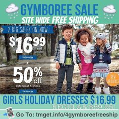 Have your cuties warm and in style with today's HOT Sale from Gymboree . . Save 50% Off Outerwear starting at just $19.00 (Reg $44.95). Or shop the newly markdowns at just $6.99 each (Reg $39.95) these are huge savings!!! But my personal favorite is crossing off the Holiday Dresses off the list and picture ready for only $16.99 they retail for $59.95!!! To Add to that. FREE SHIPPING No Minimum! . .  http://tmget.info/4gymboreefreeship  follow the link in my Bio @Tomorrowsmom #tomorrowsmom…