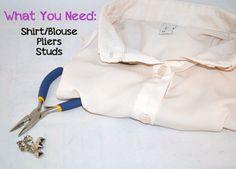 DIY Fashion: Studded Shirt Collar - we heart this