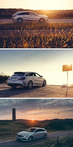 Chasing the last rays of sunshine with the Mercedes-Benz CLA Shooting Brake. Photos by Sven Klittich (www.svenzo.com) for #MBsocialcar