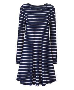 Stripe Swing Dress - L36