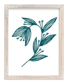 """Doodle Arc Leaves"" - Art Print by aticnomar in beautiful frame options and a variety of sizes."