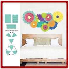 Tenemos una idea genial para decorar las paredes del hogar reutilizando materiales. ¡Haz todo lo que te imaginas #ConPritt! ¿Qué necesitas? Lápiz adhesivo marca Pritt, cuadritos adhesivos marca Pritt Tak, papeles de colores y tijeras.  #Manualidades #DIY #Crafting #Pritt #Hogar #Decoración