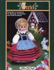 "Gretel 13"" Bed Doll Outfit Fibre Craft Crochet Pattern Leaflet"