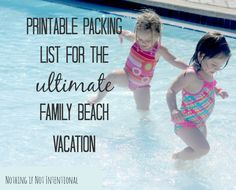 What to pack for the ultimate family beach vacation. Free printable list that includes 16 things you never dreamed you'd take to the beach. ...