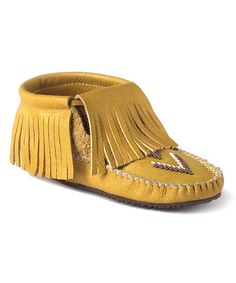 Love this Tan Paddle-Grain Leather Moccasin Boot on #zulily! #zulilyfinds