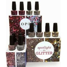 OPI Spotlight on Glitter Nail Lacquer  Price : $9.00 http://www.beautyofasite.com/OPI-Spotlight-Glitter-Nail-Lacquer/dp/B00IKTU4S6
