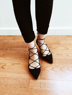 Black flats are a Parisian staple.