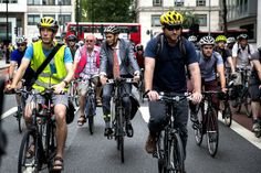 Hundreds of cyclists ride from Russell Square to Holborn in protest against another cycling death in Holborn