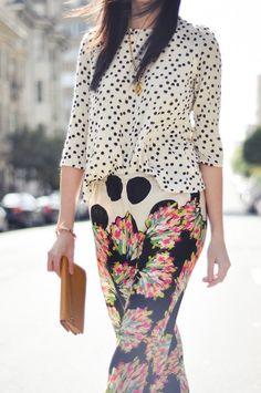 polka dots & florals