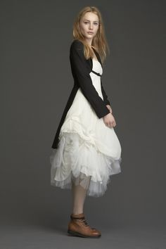 Just add boots, leather corset and stockings, steampunk this look!!!! BRIDAL 2012. | Morgane Le Fay
