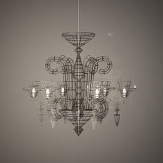 Max Wire Chandelier Atelier Aail From Ahern