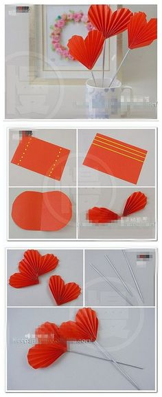 DIY small creative hand-made jewelry-Tough Rabbit – Crafts Ideas Diy Origami, Origami Paper, Diy Paper, Origami Heart, Hobbies And Crafts, Diy And Crafts, Crafts For Kids, Arts And Crafts, Valentines Bricolage