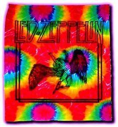 Led Zeppelin Sunburst Tye-Dye Tapestry 40 by 45 Inches