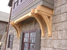 Private Residence - heavy timber brackets