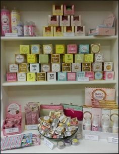 Soaps, lip balm, bath melts and handcream, all at The Butterfly Rooms (smells yummy)