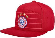 8709d35db4e adidas Bayern Munich Flat Bill Hat - FCB True Red   White - SoccerPro.com