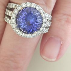 Recut Tanzanite for a client. Turned out better than the original. #wearepreferred #tanzanite. #gemstonejewelry #shoplocal. #sharethelex